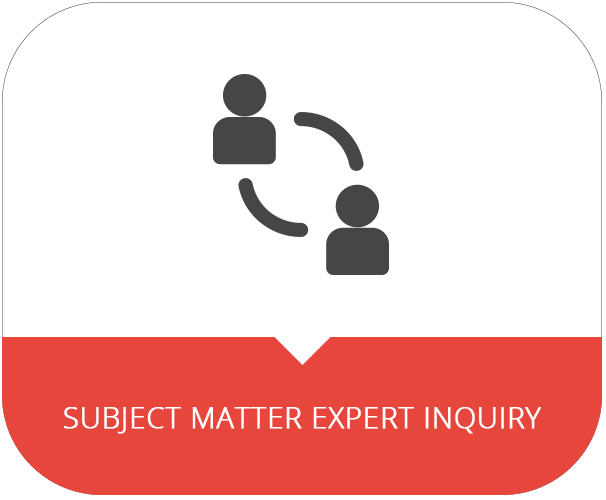 Fill out the Subject Matter Expert Inquiry Form