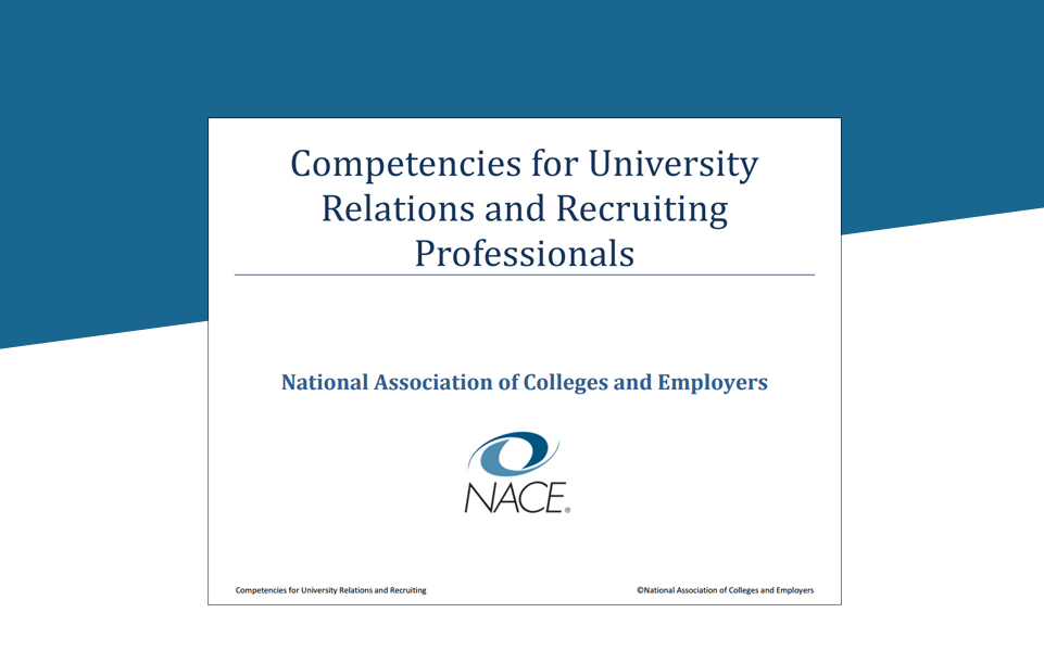 Competencies for University Relations and Recruiting Professionals