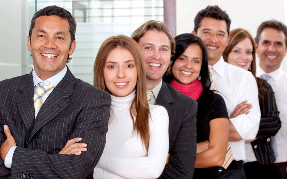 A group of career services professionals.