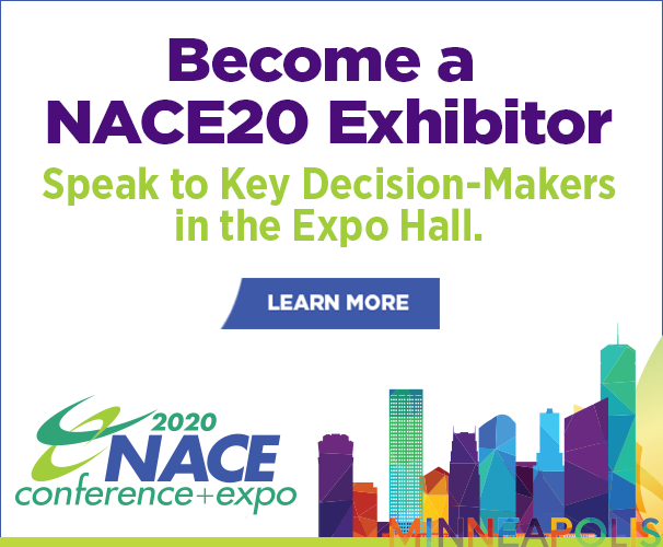 Become a NACE20 Exhibitor: Speak to key decision-makers in the expo hall.