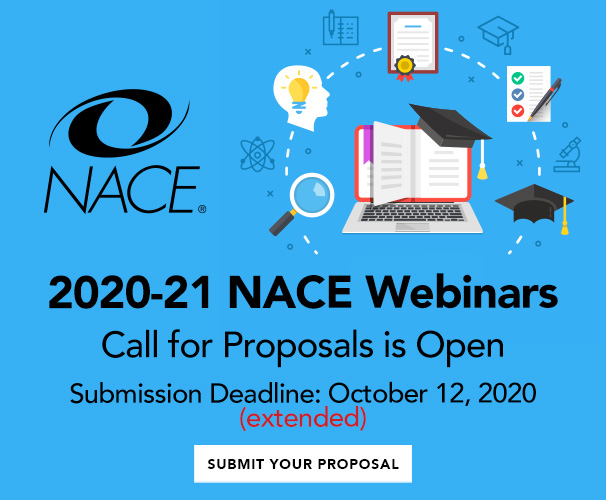 NACE Webinar Call for Proposals is now open!