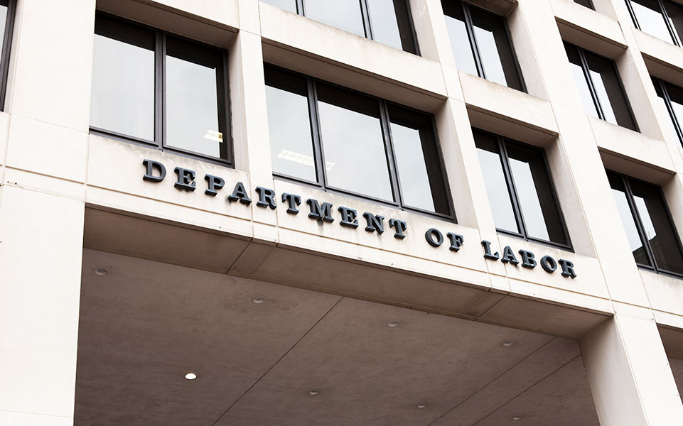 The Department of Labor building.