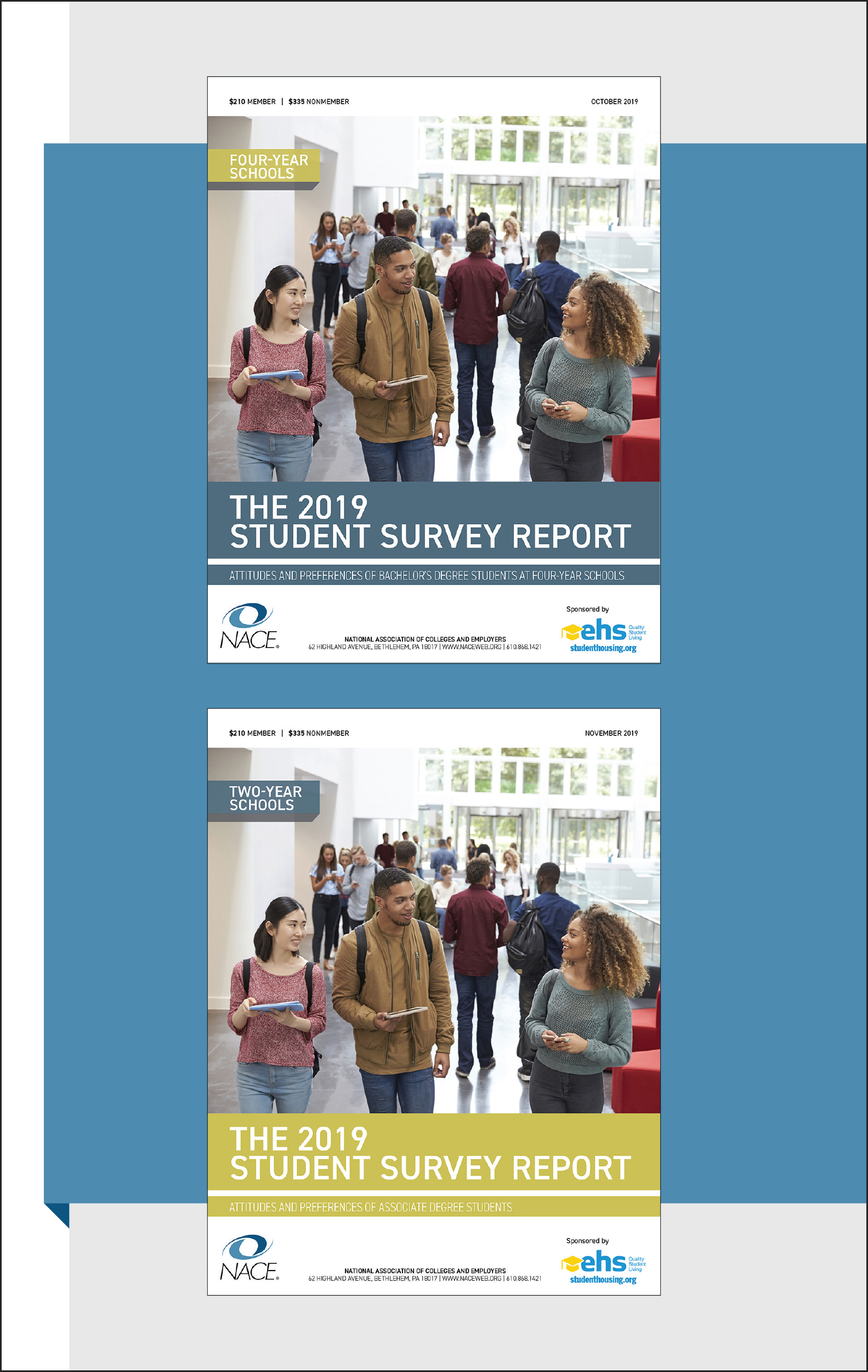 The cover of the 2019 NACE Student Survey for Four Year and Two Year Schools