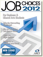 NACE Job Choices for Business and Liberal Arts Students
